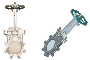Stainless steel knife gate valves